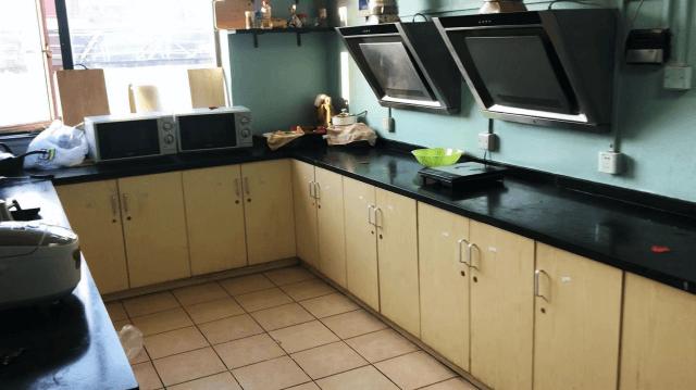 上海の留学生寮unijiaのキッチン