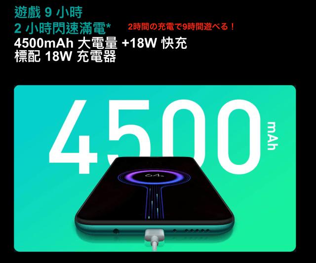 xiaomi8proのバッテリー