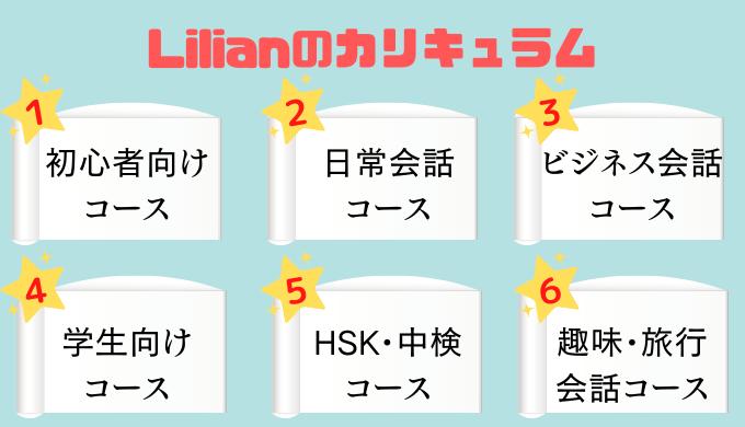 Lilian(リリアン)中国語スクールのレッスン内容